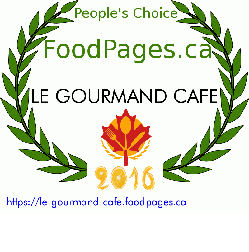 LE GOURMAND CAFE FoodPages.ca 2016 Award Winner