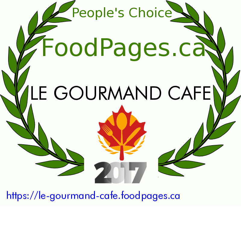 LE GOURMAND CAFE FoodPages.ca 2017 Award Winner